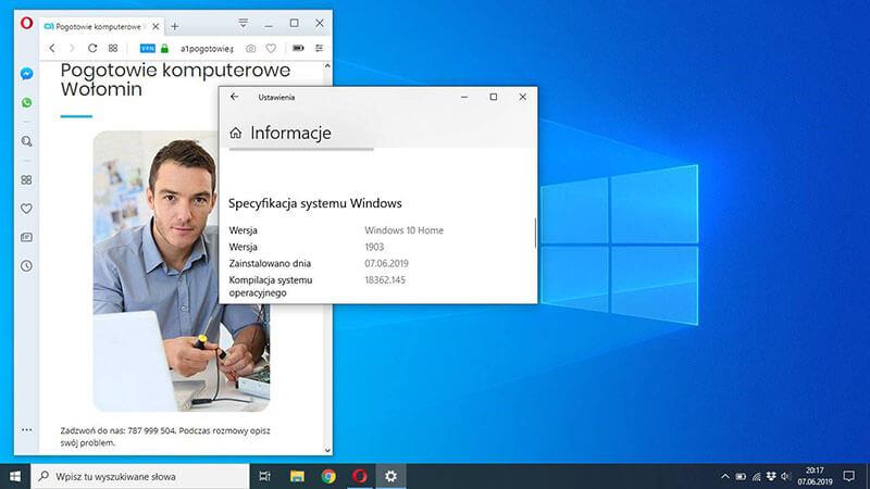 Aktualizacja Windows 10 wołomin