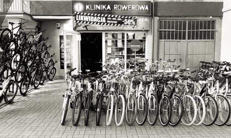 Likwidacja Kliniki Rowerowej. Wyprzedaż towaru