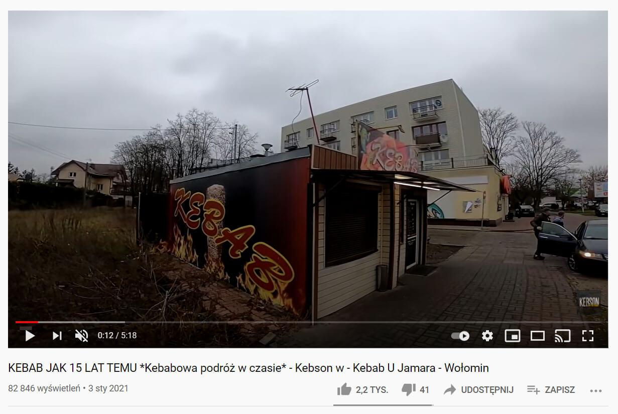 Kebab u Jamara Wołomin recenzja youtube KebsonTV