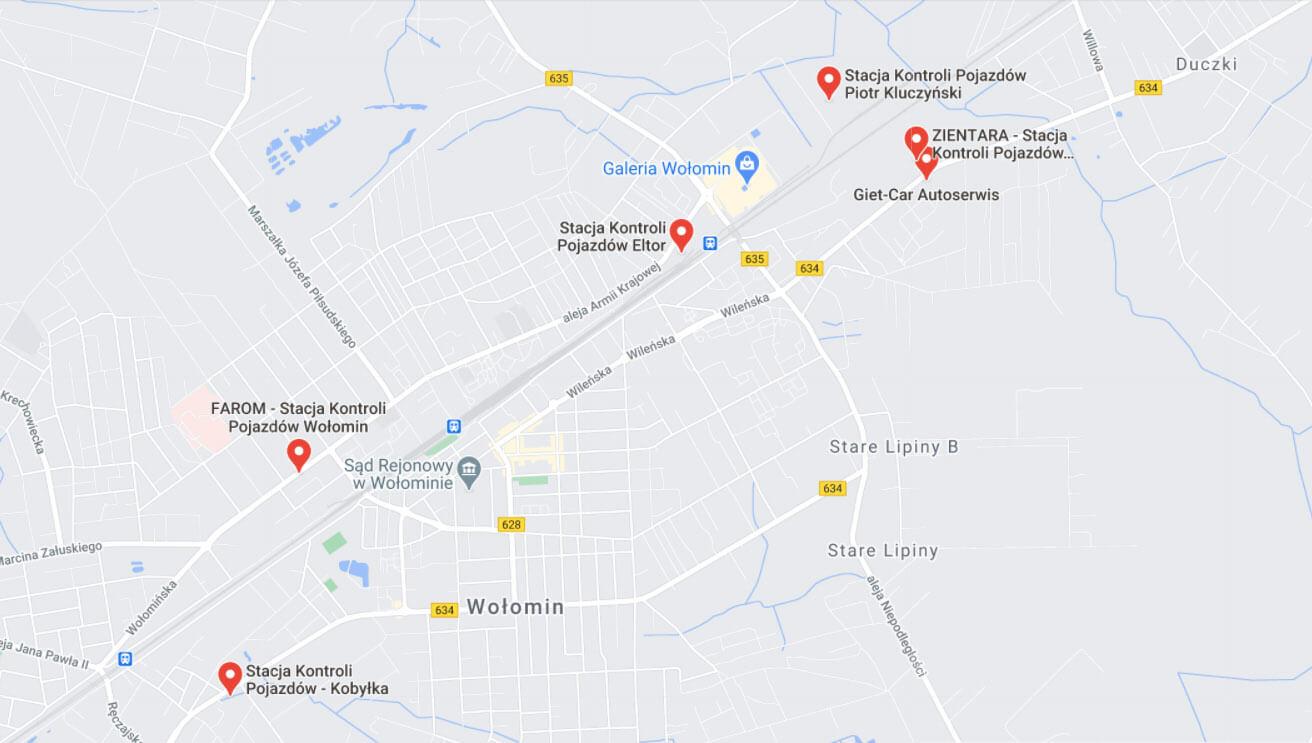stacje kontroli pojazdów Wołomin